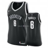 Maillot Femme Brooklyn Nets NO.6 Jared Dudley Noir Icon 2018