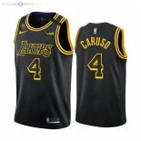 Maillot Los Angeles Lakers Nike NO.4 Alex Caruso Noir Mamba 2019-20