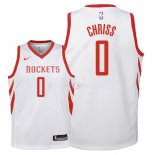 Maillot Enfants Houston Rockets NO.0 Marquese Chriss Blanc Association 2018