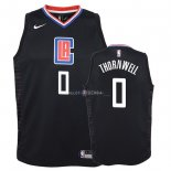 Maillot Enfants Los Angeles Clippers NO.0 Sindarius Thornwell Noir Statement 2018