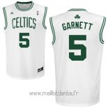 Maillot Boston Celtics No.5 Kevin Garnett Blanc