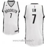 Maillot Brooklyn Nets No.7 Jeremy Lin Blanc