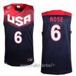 Maillot 2014 USA Rose No.6 Noir