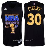 Maillot Golden State Warriors Finales No.30 Curry Noir