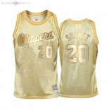 Maillot Enfants Los Angeles Clippers NO.20 Landry Shamet Or Hardwood Classics