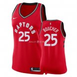 Maillot Femme Toronto Raptors NO.25 Chris Boucher Rouge Icon 2018