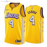 Maillot Los Angeles Lakers Nike NO.4 Alex Caruso Nike Jaune Ville 2019-20
