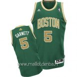 Maillot Boston Celtics No.5 Kevin Garnett Vert Or