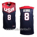 Maillot 2014 USA George No.8 Noir
