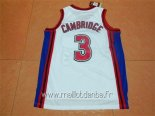 Maillot Film Basket-Ball Bel Air Academy No.3 Cambridge Blanc