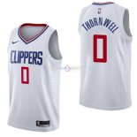 Maillot Los Angeles Clippers Nike NO.0 Sindarius Thornwell Blanc Association