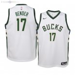 Maillot Enfants Milwaukee Bucks NO.17 Dragan Bender Blanc Association 2019/2020
