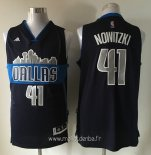 Maillot Dallas Mavericks No.41 Dirk Nowitzki Noir