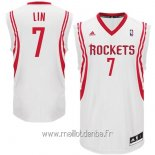 Maillot Houston Rockets No.7 Jeremy Lin Blanc