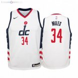 Maillot NBA Enfant Washington Wizards NO.34 C.J. Miles Nike Blanc Ville 2019-20