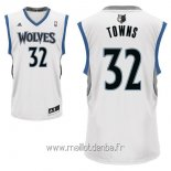 Maillot Minnesota Timberwolves No.32 Karl Anthony Towns Blanc