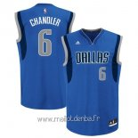 Maillot Dallas Mavericks No.6 Tyson Chandler Bleu