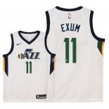 Maillot Enfants Utah Jazz NO.11 Dante Exum Blanc Association 2018