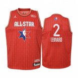 Maillot Enfant 2020 All Star NO.2 Kawhi Leonard Rouge