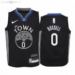 Maillot NBA Enfant Golden State Warriors NO.0 D'Angelo Russell Nike Noir Ville 2019-20