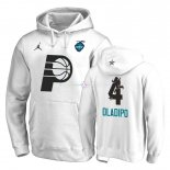 Hoodies 2019 All Star Indiana Pacers NO.4 Victor Oladipo Blanc