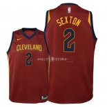 Maillot Enfants Cleveland Cavaliers NO.2 Collin Sexton Rouge Icon 2018
