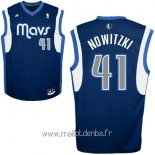 Maillot Dallas Mavericks No.41 Dirk Nowitzki Bleu Profond