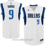 Maillot Dallas Mavericks No.9 Rajon Rondo Blanc