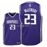 Maillot Enfants Sacramento Kings NO.23 Ben McLemore Pourpre Icon 2018
