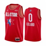 Maillot 2020 All Star NO.0 Damian Lillard Rouge
