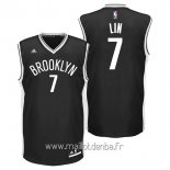 Maillot Brooklyn Nets No.7 Jeremy Lin Noir