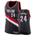 Maillot Femme Portland Trail Blazers NO.24 Anfernee Simons Noir Icon 2018