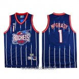 Maillot Houston Rockets No.1 Tracy McGrady Retro Bleu