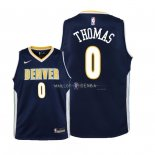 Maillot Enfants Denver Nuggets NO.0 Isaiah Thomas Marine Icon 2018