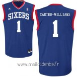 Maillot Philadelphia Sixers No.1 Michael Carter Williams Bleu