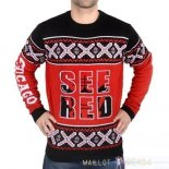 NBA Unisex Ugly Sweater Chicago Bulls Rouge Noir