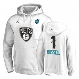 Hoodies 2019 All Star Brooklyn Nets NO.1 D'Angelo Russell Blanc