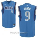 Maillot Dallas Mavericks No.9 Rajon Rondo Bleu