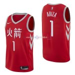 Maillot Houston Rockets Nike NO.1 Trevor Ariza Nike Rouge Ville