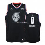 Maillot Enfants 2019 All Star NO.0 Damian Lillard Noir