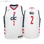 Maillot NBA Enfant Washington Wizards NO.2 John Wall Nike Blanc Ville 2019-20