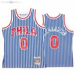 Maillot NBA Philadelphia Sixers Striped NO.0 Josh Richardson Bleu Hardwood Classics