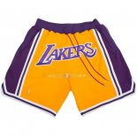 Pantalon Los Angeles Lakers Nike Retro Jaune 2018