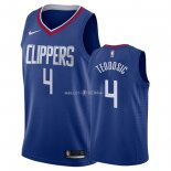 Maillot Los Angeles Clippers Nike NO.4 Milos Teodisic Bleu Icon 2018