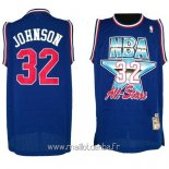 Maillot 1992 All Star No.32 Joe Johnson Bleu