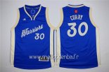 Maillot Enfants 2015 Noël Golden State Warriors No.30 Stephen Curry Bleu