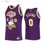 Maillot NBA Los Angeles Lakers NO.0 Kyle Kuzma Pourpre Hardwood Classics
