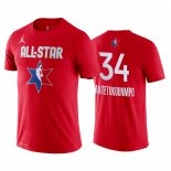 Maillot 2020 All Star NO.34 Giannis Antetokounmpo Rouge