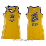 Maillot Femme Golden State Warriors No.30 Stephen Curry Jaune