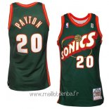 Maillot Seattle Supersonics No.20 Gary Payton Retro Vert